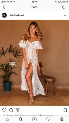 Come to Papa Beach Dresses, Sexy Dresses, Summer Dresses, Dress Beach, Women's Summer Fashion, Boho Fashion, Fashion Outfits, Bikini Dress, Beach Attire