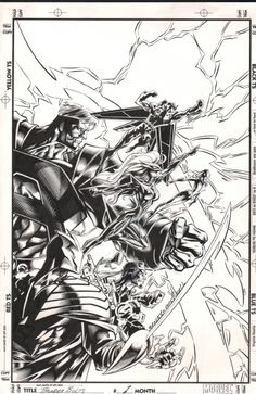 Ungoliantschilde — some black and white artwork by Mark Bagley.