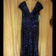 Make an offer: Camille La Vie Dress Royal blue sequin dress with silky belt attached and brand new with tags, never worn. Originally bought it for my party but never wore it as I lost too much weight and it no longer fit. I still have the plastic cover for the dress too. Zara Dresses Prom