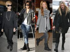 How to Wear Combat Boots! Kandise, this is what we've been looking for! Perfect inspiration for outfits!
