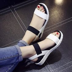 Summer shoes Hot Selling sandals women 2017 peep-toe flat Shoes Roman sandals Women shoes sandalias mujer sandalias high quality - Women's style: Patterns of sustainability Peep Toe Flats, Open Toe Shoes, Slip On Shoes, Flat Shoes, Leather Sandals Flat, Flat Sandals, Women's Shoes Sandals, Gladiator Sandals, Sexy Sandals