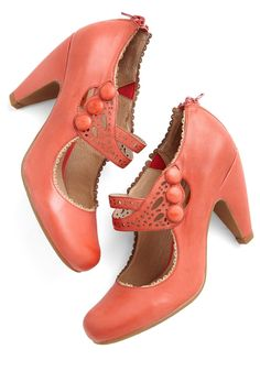 Dance the Day Away Heel in Red, #ModCloth