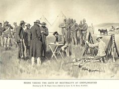Boer Farmers Taking The Oath Of Neutrality At Greylingstad South Africa During The Second Boer War From South Africa And The Transvaal War By Louis Creswicke Published 1900 Canvas Art - Ken Welsh Des War Novels, Cartoon Photo, History Projects, Modern Warfare, My Heritage, British Army, African History, Sacred Geometry, World War Two