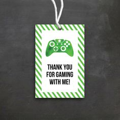 Video Game Birthday Favor Tags | DIY Printable | Video Game Birthday Party | Game Truck | Gamer | Boy Birthday