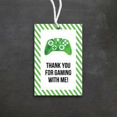 Video Game Birthday Favor Tags | DIY Printable | Video Game Birthday Party | Game Truck | Gamer | Boy Birthday