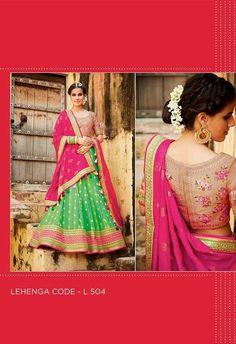 Embroidered Lehenga & Tussar Silk Blouse..@ fashionsbyindia.com #designs #indian #womens #style #cloths #stylish #casual #fashionsbyindia #punjabi #suits #wedding #chic #elegance #beauty #outfits #fantasy #embroidered #dress #PakistaniFashion #Fashion #Longsuit #FloralEmbroidery #Fashionista #Fashion2015 #IndianWear #WeddingWear #Bridesmaid #BridalWear #PartyWear #Occasion #OnlineShopping #salwar #kameez #lehenga Party Wear Lehenga, Georgette Fabric, Wedding Wear, Indian Wear, Chiffon, Sari, Punjabi Suits, Stylish, Salwar Kameez