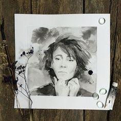 С днём рождения любимая  Z  #zemfira #виноградовакатерина #портретземфиры #земфира  #портретчернойтушью #одинденьсхудожником #естьтакойдень26августа #всегдазатебя