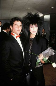 Rising star Tom Cruise and Cher posed together in an undated photo from the mid '80s, around the tim... - Rex USA