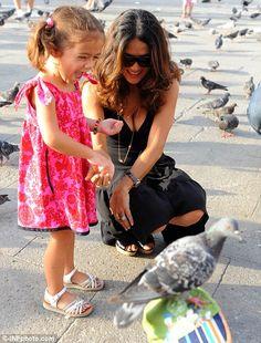 Feeding the pigeons!