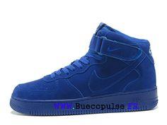 best cheap 469a7 302c2 Nouveau Nike Air Force 1 Chaussures classiques Pas Cher Pour Femme Enfant  Bleu 315123-