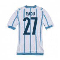 cf1c27258 ss Lazio 2014-15 season Radu  27 Away White Soccer Jersey Shirt Sale