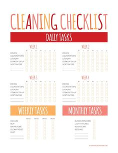 House Cleaning Checklist. Spring cleaning is just around the ...