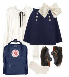 """""""Untitled #10"""" by pugardens on Polyvore featuring Tommy Hilfiger, Dr. Martens, Johnstons of Elgin, Fjällräven and Cara"""