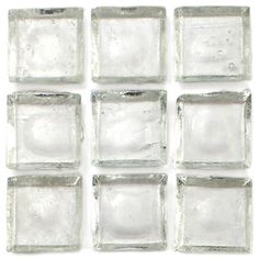 "Creative Decore  Recycled Vision Glass, 1"" x 1"", Crystal, Glossy, Clear, Glass"