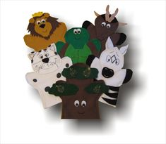 AIM Language Learning puppets http://lisapuppetmaker.com Click on the link beside to go to the website to purchase these hand puppets. They are used to teach kids French. This set is called L'arbre Ungali Puppets . maybe your children have seen these before.