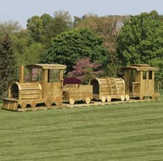 Choo-Choo Train 4-Pc. Playset: All aboard! Your little Casey Jones will love this charming four-piece train play set carefully designed and handcrafted just for kids. As with all our Amish-made playhouses and play sets, your child's 4-Piece Choo-Choo Train comes with quality standard features as well as tempting optional selections to turn outdoor playtime into cherished childhood memories!