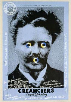 Petit Odéon, Saison 1979-1980... En co-réalisation avec la Comédie Française. « Créanciers » d'August Strindberg. Mise en scène Jacques Baillon. Du 22 janvier au 24 février.