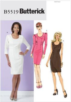 Pattern: Butterick B5519 sheath dress  Size: FF (16-22)  Availability: OOP  Condition: Uncut, Factory Folded  Swapper: Konnie Kapow  Will swap for: patterns, fabric,trims/ notions, buttons, books and more...