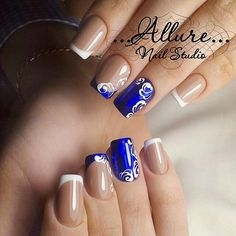 Here are some hot nail art designs that you will definitely love and you can make your own. You'll be in love with your nails on a daily basis. Fabulous Nails, Gorgeous Nails, Pretty Nails, French Nails, Toe Nail Designs, Nails Design, Hot Nails, Artificial Nails, Creative Nails