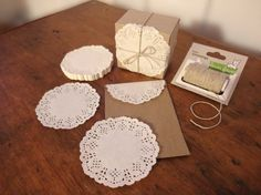 Mini Lace Paper Doilies by chickydoddle, $2.50