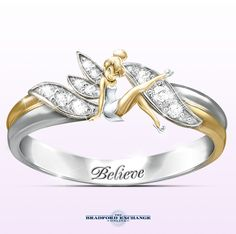 Believe in the magic with this enchanting Tinker Bell ring.