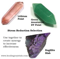 Feeling a bit stressed during the build up of the silly season?  Using a group of crystals together heightens the vibrations and increases their effectiveness. Three crystals that work really well together to reduce the effects of stress are Lithium, Green Aventurine and Sugilite.  Visit www.healingcrystals.com to find your own pieces  Usr HCPIN10 for 10% off