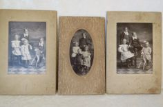 Victorian Era Cabinet Photos Same Children In Family Different Poses Horse
