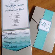 Ocean Wave Wedding Invitation