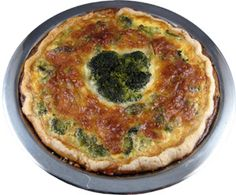 Broccoli and Cheese Pie. Might try this for St. Patty's Day