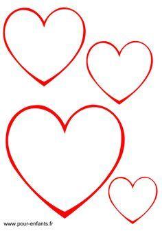 dessin de coeur à découper Plus