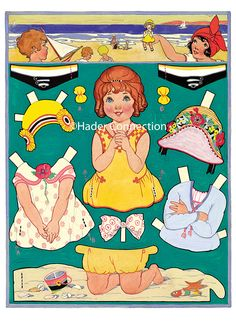 Hader paper doll_Beach; Good Housekeeping magazine, Aug. 1924