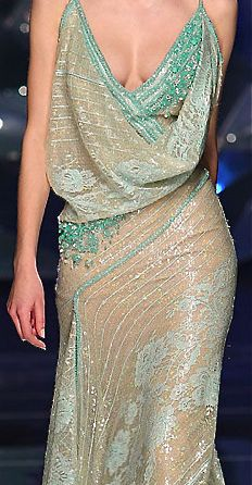 ABED MAHFOUZ... love the draped neckline.  and the beading.