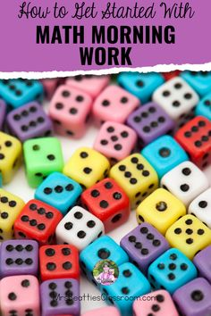 How to Get Started With Math Morning Work Classroom Resources, Math Resources, Math Activities, Teaching Strategies, Teaching Math, Work Task, Math Manipulatives, Primary Maths, Morning Work