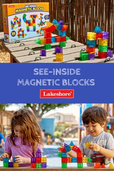 See-Inside Magnetic Blocks Lakeshore Learning, Summer Activities For Kids, Children's Place, Light Table, Educational Toys, Summer Fun, Magnets, Innovation, Connection