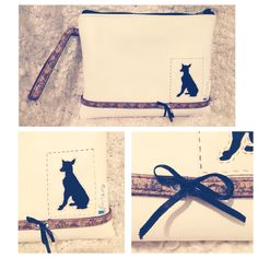 Clutch bag with a pintscher silhouette by markellagi ☺️