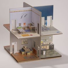 """kit house. each room only 5"""". house structure kit $20. PDF for $10. fully decorated house kit for $50"""