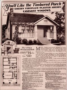 1920s Craftsman Bungalow | Montgomery Ward - 1930 Modern Bungalow - Utica -,#the good old days!!