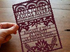 Inspiration mexicaine pour un mariage : invitation et guirlande «Papel picado»