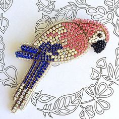 Crystal brooch parrot brooch tropical bird jewelry bird brooch http://www.allthingsvogue.com/best-affordable-silver-bangle-bracelets/