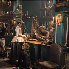 """Behind the Scenes - Claire and Master Raymond  (MORE on """"OUTLANDER Costumes, Music, Videos, BTS, Merchandise"""" Board.)"""