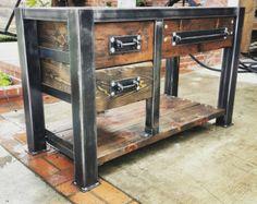 Pipa de madera de granero Industrial baño tocador por AmbientWood