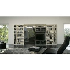 Logo 200 Wall Unit with Bookcase System by Sangiacomo, Italy