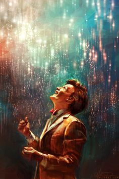 "Gorgeous, Poignant Pieces Of ""Doctor Who"" Fan Art Doctor? Doctor who? Doctor who? Doctor Who Fan Art, Doctor Who Quotes, 11th Doctor, Diy Doctor, Disneysea Tokyo, Geronimo, Film Serie, The Villain, The Doctor"