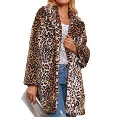 L/éopard Imprimer Manteau Cardigan Automne Hiver Femmes /À Manches Longues De Mode Veste Blouse Bureau D/ébardeurs GreatestPAK