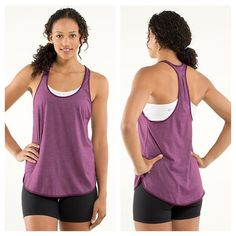 EUC lululemon 105f singlet heathered plum Excellent used condition. Absolutely no signs of wear, perfect condition. Completely sold out in stores!! lululemon athletica Tops Muscle Tees