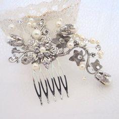 Wedding hair comb Bridal headpiece Wedding by treasures570 on Etsy
