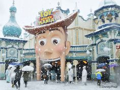 Snow makes Tokyo DisneySea feel even more magical! Toy Story Mania is a must-try ride for me every time when I visit there!