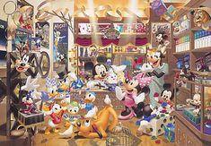 D-1000-228 Tenyo Disney Mickey Minnie Pluto Goofy Jigsaw Puzzles