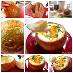 Have you ever eat loaded cheesy baked potato soup served in a bread bowl ? Check this recipe--> http://wonderfuldiy.com/wonderful-diy-cheesy-potato-soup-served-in-a-bread-bowl/ More #DIY projects: www.wonderfuldiy.com
