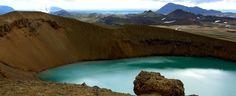 Askja Volcano. Crater lake.